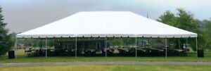 40X60 DOUBLE TUBE WHITE FRAME TENT FOR SALE!!