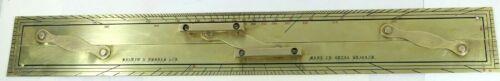 "Vintage Kelvin & Hughes 24"" Nautical Navigation Parallel Brass Ruler"