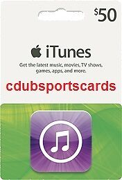 APPLE $50 US iTUNES GIFT CARD CERTIFICATE VOUCHER - 100% FREE WORLDWIDE SHIPPING