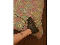 Dr Martens Bethan Double Sole Buckle Shoes SIZE 6
