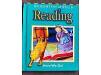 Reading 'Here We Go' by Houghton Mifflin