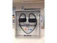 Sony SSE-BTR1B Wireless Smart B-Trainer Headphones Includes Bluetooth, GPS, HRM - 16 GB Black