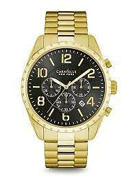 CARAVELLE NEW YORK Mens 44B114 Dress Black Dial Watch