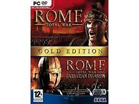 two rome/empire computer dvd pc rom games