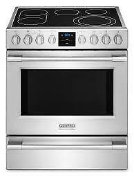 Cuisinière électrique FRIGIDAIRE 30 po, 5.1 pi. cu., Autonettoyant, Tiroir réchaud, Acier Inox,  (SKU:1259), CPEH3077RF