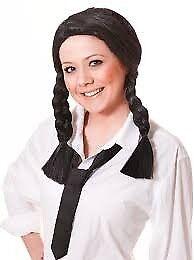 BLACK SCHOOL GIRL FANCY DRESS WIG GREAT FOR PARTY OR HEN DO