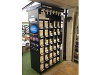 Shop display perfect for mobile phone or storage of goods. perfect for LED bulb or lights as well