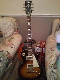 Vintage electric guitar Les Paul style