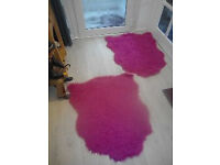 Deep pink fluffy rugs
