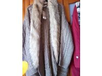 Cardigan with fur size 24