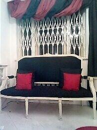 Victorian High back Vintage Sofa-Shabby Chic-£250