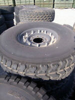 Set of  4 Military, Hummer H1 / HMMWV Tires with Rims