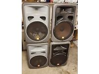 4 X JBL EON 15'' DJ SPEAKERS - REPAIR / COLLECTION LIVERPOOL - £130 O.N.O (FOR 4)