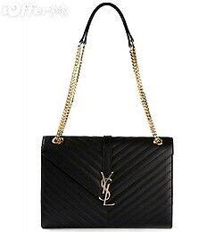Women s YSL Envelope Handbag Inspired Black Gold UK  6ec485bbe56aa