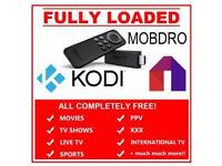 Amazon Fire with Kodi & Mobdro