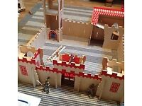 Wooden Castle and a tub of knights from Mothercare
