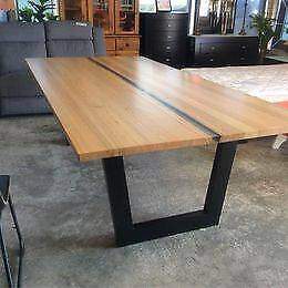 Messmate Timber Dining Table (2.4 metre) Wangara Wanneroo Area Preview