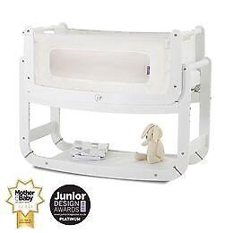 SnuzPod2 Bedside Crib 3 in 1 white