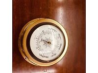 Fantastic vintage classic among Barometers. this is delivered in a hand-cast brass case