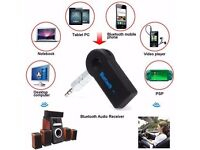 Wireless Bluetooth Transmitter Aux 3.5mm Jack, make any Speaker Wireless and Simply in Car or Home