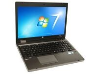 "HP 6560B Quad Core i5 2.5GHZ Laptop. Windows 7. 4GB. 320GB. 15.6"" Screen. Webcam"