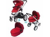 Quinny Buzz 3 Travel System Push Chair Carry Cot FootMuff Bundle Bargain