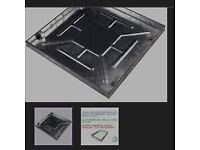 Brand new-fully-galvanised-600-x-600-x-43-5mm-sealed-locking-recessed-manhole cover