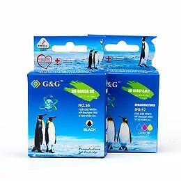 HP 56 Black and 57 Color Remanufactured Ink Cartridge High Yield Combo Set
