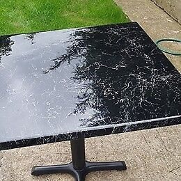 CAFE BISTRO RESIN TABLE TOPS AND BASE