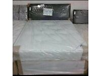 ⚡️⚡️STOCK CLEARANCE⚡️⚡️ BRAND NEW SINGLE - DOUBLE DIVAN BED BASE WITH MATTRESS