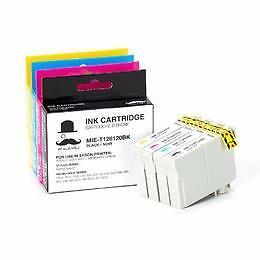 Epson T126 New Compatible Ink Cartridges Value Pack (High Yield) (BK/C/M/Y)