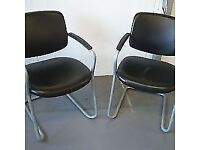 2 office/reception chairs modern style but sturdy