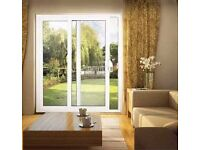 Single Slide Back Patio Doors White PVC 2125mm w 2130mm h,Out and Ready to Collect