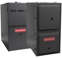 96% efficient furnaces fully installed starting @ $2300.00