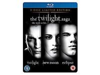 Twilight Saga Triple - Twilight / New Moon / Eclipse (Blu-ray, 2011, 3-Disc Set)