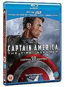 Captain America 3D Blu Ray