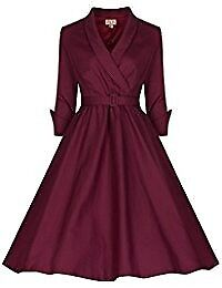 LINDY BOP DEEP RED VINTAGE STYLE DRESS SIZE 8 BRAND NEW WITH TAGS PARTY OR WEDDING /BRIDESMAID