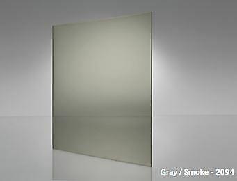 """Light Gray Smoke Transparent Acrylic Plexiglass #2064-1//4/"""" x 12/"""" x 12/"""""""