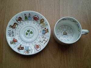Tea leaf reader cup and saucer for two - 2 sets available