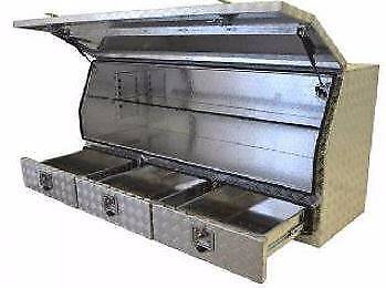 1700 Wide Aluminium Ali Toolbox with 3 Drawers Ute Tool box