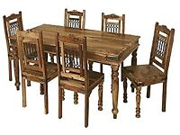 Solid Indian Rosewood Dining Table & chairs