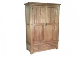 Halo Antibes Double Wardrobe. Crafted from solid ash wood and veneers.