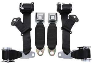 1974-77-Replacement-Corvette-Seat-Belt-Replacement-Corvette-Seat-Belts-Black