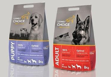 Lionel's Choice dog food. 8kg/20kg