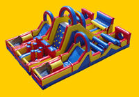 GIANT Inflatable OBSTACLE Course Birthday from $299