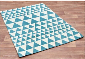 Handwoven Large Teal Rug