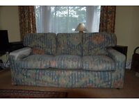 Free - 3-seater sofa – sound, but cover torn. Needs extra cushions for proper comfort.