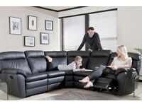 FAUX LEATHER RECLINER CORNER SOFA OR 3+2 SEATER SOFA SET!!!!( LIMITED TIME OFFER)