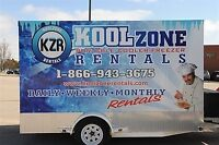Portable Refrigeration Cooler & Freezer Trailer Rentals