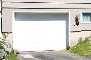 9'x7' white garage door in great shape
